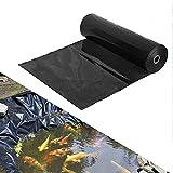 YYDP 0,2 Mm Dicke HDPE Teichfolien 4 × 4 M 6 × 6 M Teichunterlage, Fischteichauskleidung Für Wasserfall, Schwarz