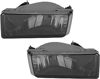 Roadstar Fog Lights 12V 35W H8 Halogen Lamp Bulb Fit for 2007-2014 Chevrolet Silverado 2500HD 3500HD Smoke Lens