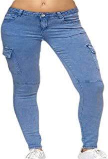 Women High Waist Cargo Pants Jogger Trousers with Pockets