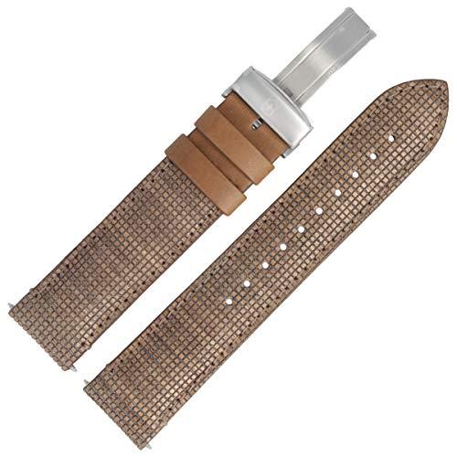 Victorinox Uhrenarmband 20 mm Leder Braun Muster - 5811
