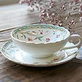 Taza de café con platillo Copa de Café Lotus entrada de la taza de café del platillo Inglés Amplia Copa Boca Té Rojo Té de la tarde del juego de té Familia comedor, sala de estar ( Color : C )