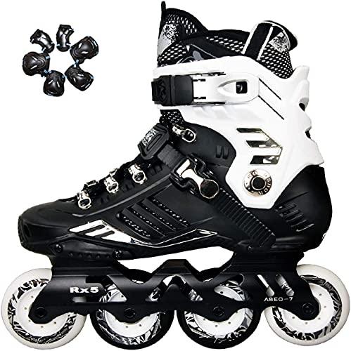 Patines para adultos al aire libre patines en línea para mujeres y hombres, patines de alto rendimiento patines para niños niñas, caja fuerte y duradero para principiantes de niños, patines para exter