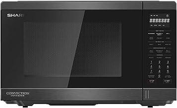 ميكروويف شارب انفرتر كونفكشن سعة 32 لتر، 1100 وات لون أسود مزود بشواية و 11 قائمة للطهي R-32CNI-BS2