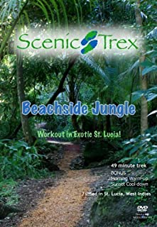 Scenic Trex Beachside Jungle DVD - Virtual Walking, Cycling, Treadmill Workout by Trek the jungles and beaches of St Lucia during treadmill walks and indoor cycling.