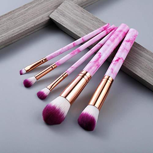 Maquillage anticernes multifonction brosse brosse de maquillage fard à paupières Foundation 2020 outil pinceau de maquillage,5pcs Rose