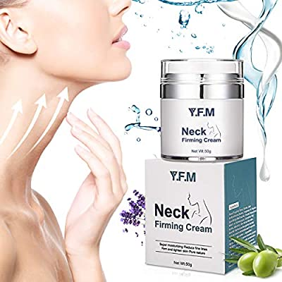 Neck Firming Cream, Y.F.M Anti Aging Moisturizer for Neck, Skin Tightening & Lifting Cream, Advanced Anti-wrinkle Complexes, Work on Loose, Wrinkeld and Sagging Skin