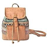 Amoyie Sacs à main portés dos femme en cuir et toile, sacs à dos loisir petite,...