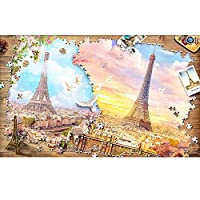 1000ピースパズルおもちゃ 種類レベルエッフェル塔,58.8x37.8cm / 23.1x14.9in チャイルドパズル ピース ホームエンターテインメントおもちゃの家の装飾で遊ぶ大人の十代の若者たちのために