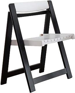 RONGJJ Silla de Comedor Plegable Silla de Escritorio Respaldo portátil de Madera Restaurante Oficina Sillas de computadora Silla de Escritorio ergonómica,