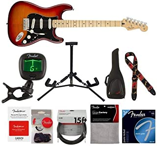 Fender Player Stratocaster Plus Top Electric Guitar, 22 Frets, Modern