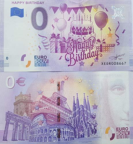 0-Euro-Schein Happy Birthday (2020/1) Souvenir Null Euro € Sammler Geburtstag Geschenk