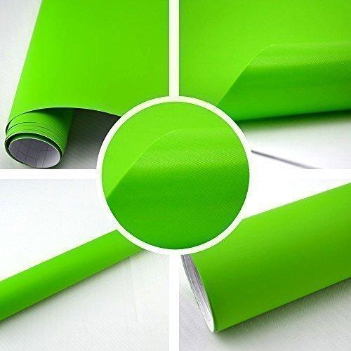 TipTopCarbon 6,57€/m² Autofolie Matt Grün 1m x 1,52m Auto Folie selbstklebend mit Luftkanälen 3D Flex
