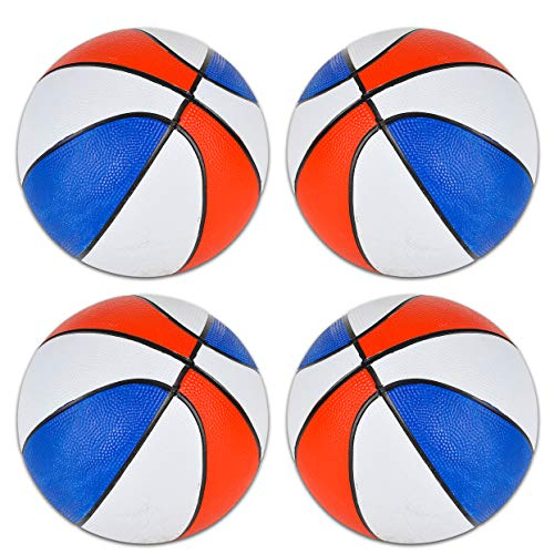 "Best Review Of Edgewood Toys 7"" Mini Red White & Blue Basketballs - Kids Basketball Ball for Indoo..."
