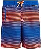 Body Glove Boys' Swim Trunks – UPF 50+ Quick-Dry Board Shorts Bathing Suit (Big Boys), Blue/Orange, Size 14/16'