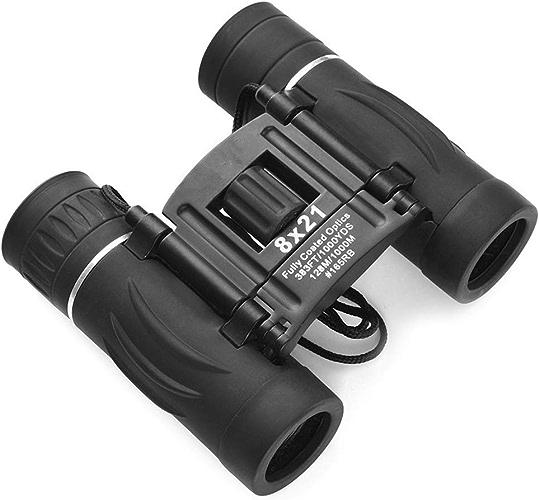 Tong Jumelles 8X21 Mini Poche compacte Haute Vision Nocturne avec Vision Nocturne et Infrarouge