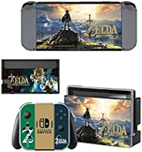 video games Decals Stickers Full Set Faceplate Skin for Nintendo Switch Console & Joy-con Controller & Dock Protection Kit by cocailony