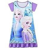 Camisón de dibujos animados de princesa camisones pijamas vestidos de noche ropa de dormir 3-10 años