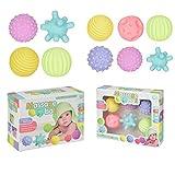 Xpccj Baby Sensory Balls, Baby Massage Ball 1Set Multi Strukturiert, Baby Hand Ball Säugling Squeezing Ball Bunte taktile Sinne Spielzeug für Babys & Kleinkinder Kinder