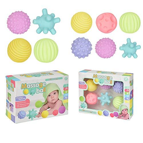 Xpccj Bolas sensoriales para bebé, bola de masaje para bebé, 1 set de múltiples texturas, bola de mano de bebé, bola de exprimir, colorida, sentidos táctiles, juguete para bebés y niños pequeños