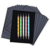 LGLG 200 unidades de papel de carbono negro de grafito negro de transferencia de carbono con 5 lápices estampados, adecuado para calcar en madera, tela (A4) (B)