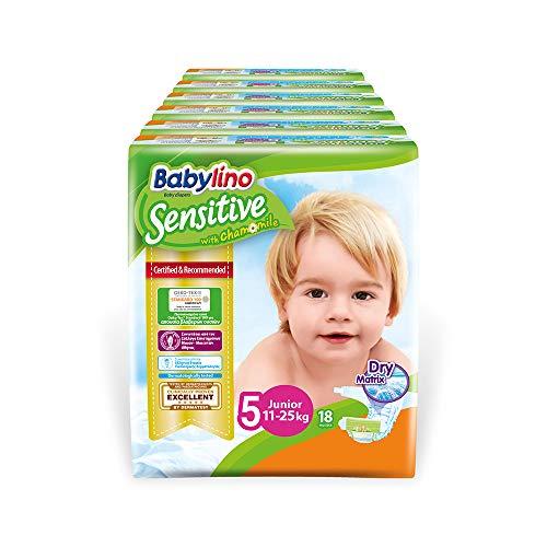Babylino Sensitive Junior, 108 Pannolini Taglia 5 (11-25Kg)