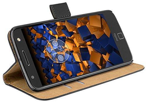 mumbi Tasche Bookstyle Hülle kompatibel mit Motorola Moto Z Hülle Handytasche Hülle Wallet, schwarz