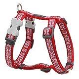RED DINGO - Imbracatura regolabile per cane, 46-76 cm, collo 56-80, palo 25 mm
