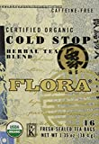 Flora Cold Stop Tea 16 Teabags - Organic Herbal Tea for Cold & Flu Symptom Relief - Non GMO &...