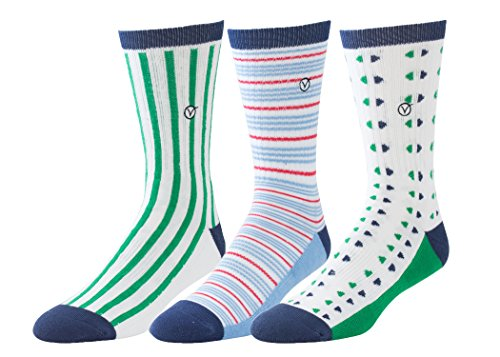 Mens 3 Pack Casual Cotton Socks – Versatile For Any Occasion By VYBE Size (9-13) (Combo C)
