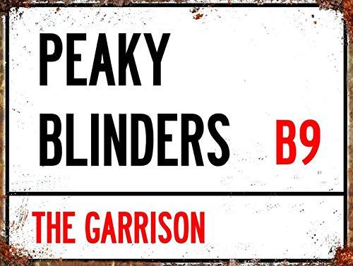 Jessgirl Peaky Blinders - Cartel retro de estaño, bandera de jardín, fácil de montar en el campo, la cocina, la pared, decoración del hogar, arte rural, decoración del hogar, 20,3 x 30,5 cm