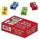 MTL 79567 - Caja afilalápices de plástico, 24 unidades