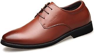 Zfl-flsnxx Men's Sandals, الكلاسيكية الأعمال الرسمية أكسفورد للرجال الترفيه أزياء اللباس الأحذية الدانتيل يصل جلد طبيعي كع...
