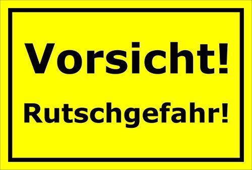 Melis Folienwerkstatt Schild – Vorsicht Rutschgefahr – 15x20cm, 30x20cm und 45x30cm – Bohrlöcher Aufkleber Hartschaum Aluverbund -S00201C