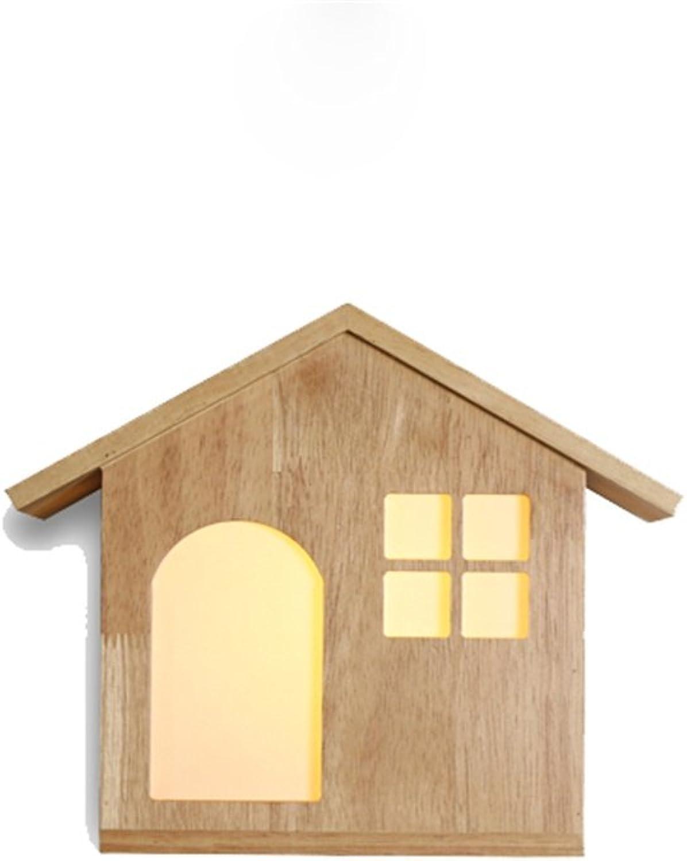 Kreative Japanische Nordic Massivholz Wandleuchte Wohnzimmer Dekoration Schlafzimmer Holz Wand Massivholz Rack Lampe energiesparende LED (Farbe   A)