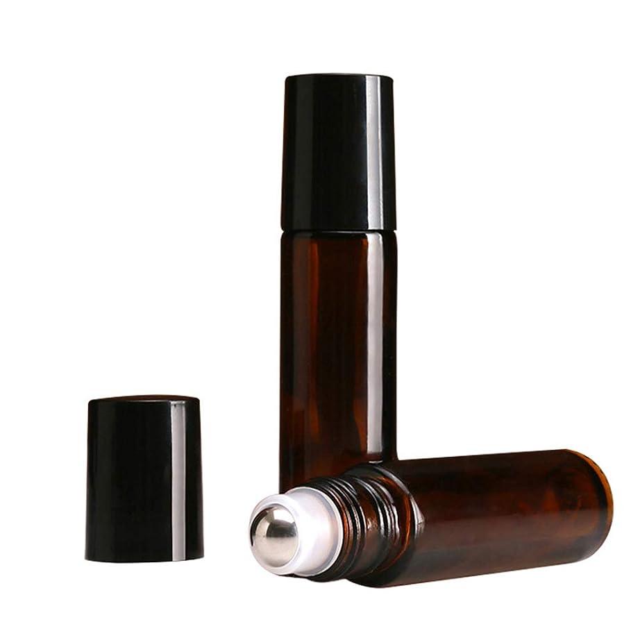 セブン不和スカートiplusmile ロール ボトル 遮光瓶 ガラスロール 10ml 精油 香水 小分け用 アロマボトル 保存容器 携帯用 出張 海外旅行 24本セット