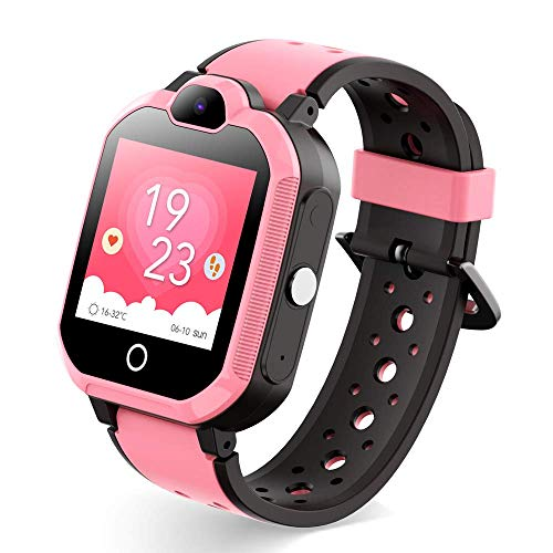 UFonding Kids Smart Watches for Girls Boys Support 4G with GPS Tracker Video Call HD Touch Screen Waterproof Fit Android iOS