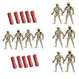 CLISPEED 10 Pezzi Esercito Uomini Antiche Figure Soldato Soldatini Action Figure Set di Giochi Accessori per Bambini Ragazzi Ragazze
