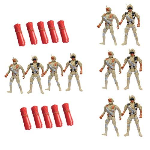 CLISPEED 10 Piezas Hombres del Ejército Figuras de Soldados Antiguos Soldados de Juguete Figuras de Acción Accesorios de Juego para Niños Niñas