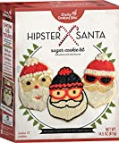 Hipster Santa Sugar Cookie Kit - Crafty Cooking Kits - Makes 12 Cookies - Classic Sugar Cookie Treats - Funny Christmastime Santa Cookies for Holiday Parties