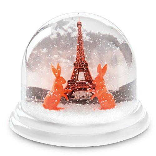 koziol 6262637 Paris Traumkugel Maxi, Plastik, weiß mit Neon, 12.7 x 12.7 x 10.3 cm