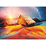 1000 Pieces Puzzles, Paintings Aurora Cabin, Classic Jigsaw Puzzle DIY for Adult Children, Modern Home Decor Festival Gift Intellectual Game Wall Art, Learning Education Decompression Toys