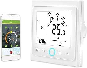 Termostato Inteligente, Controlador WiFi de 2/4 Tubos, Ahorro de Energía, Almacenamiento Más Preciso y Flexible, Pantalla ...