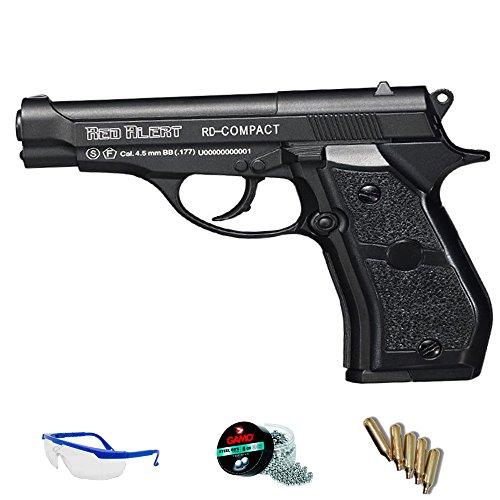 PACK pistola aire comprimido - balines acero. Gamo