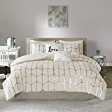 Intelligent Design Raina Duvet Cover Set, King/Cal King, Ivory/Gold
