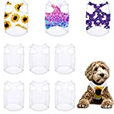 8 Pieces Sublimation Blank Dog Shirt, Heat Transfer Dog Apparel Pajamas, Heat Press Lightweight Puppy Vest, Cool Breathable Dog Clothes for Small Medium Dog Wearing (S)