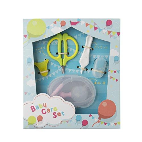 貝印 新生児ギフトセットA (爪切りハサミ・ピンセット・鼻吸い器) ギフトに最適なお手入れセット