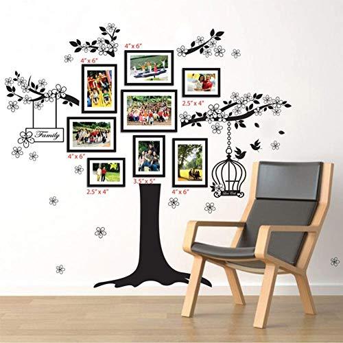 Walplus 150x100 cm adesivi da parete GABBIA UCCELLI Cornice portafoto rimovibile autoadesivo arte murale decalcomania vinile DECORAZIONE CASA fai-da-te VIVENTE ufficio camera letto carta parati
