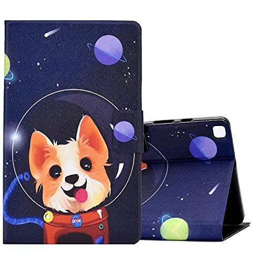 ONETHEFULCarcasaLibroFundaTabletSamsung Galaxy Tab A 8.0' 2019 T290 T295CoverFundasProtectorconPU CueroySoporte- Perro Espacial