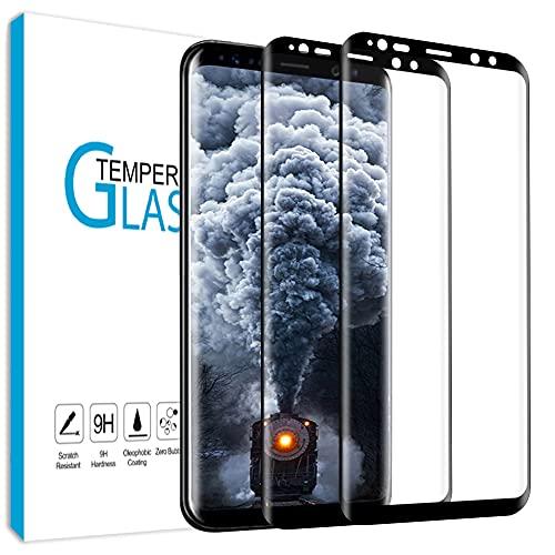 Carantee [2 Stück] Panzerglas für Samsung Galaxy S8 Schutzfolie, Ultra-klar Anti-Fingerabdruck Blasenfrei Panzerglasfolie, 9H Härte Einfache Installation Displayschutzfolie für Samsung S8