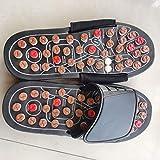 B/H Zapatillas de Masaje,Sandalias de Masaje de pies de Primavera, Zapatillas de pies de Salud-Color3_44-45,Masaje de acupresión Zapatillas